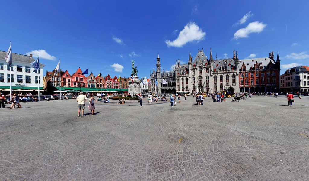 Stock Photo: 1848-722336 Provinciaal Hof, Provincial Court, Grote Markt square, historic centre of Bruges, UNESCO World Heritage Site, West Flanders, Flemish Region, Belgium, Europe