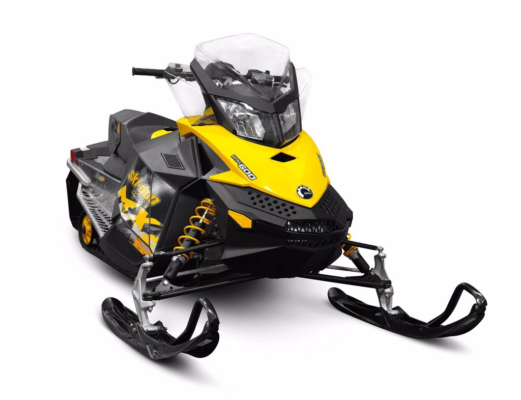 Bombardier Recreational Products BRP Ski_Doo MX Z sport snowmobile : Stock Photo