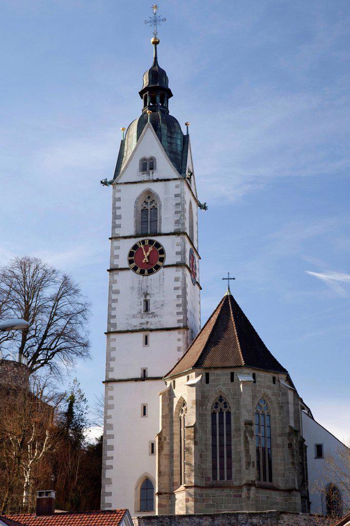 Stock Photo: 1848-722608 Catholic church of St. John the Baptist, Laufenburg, High Rhine region, canton of Aargau, Switzerland, Europe