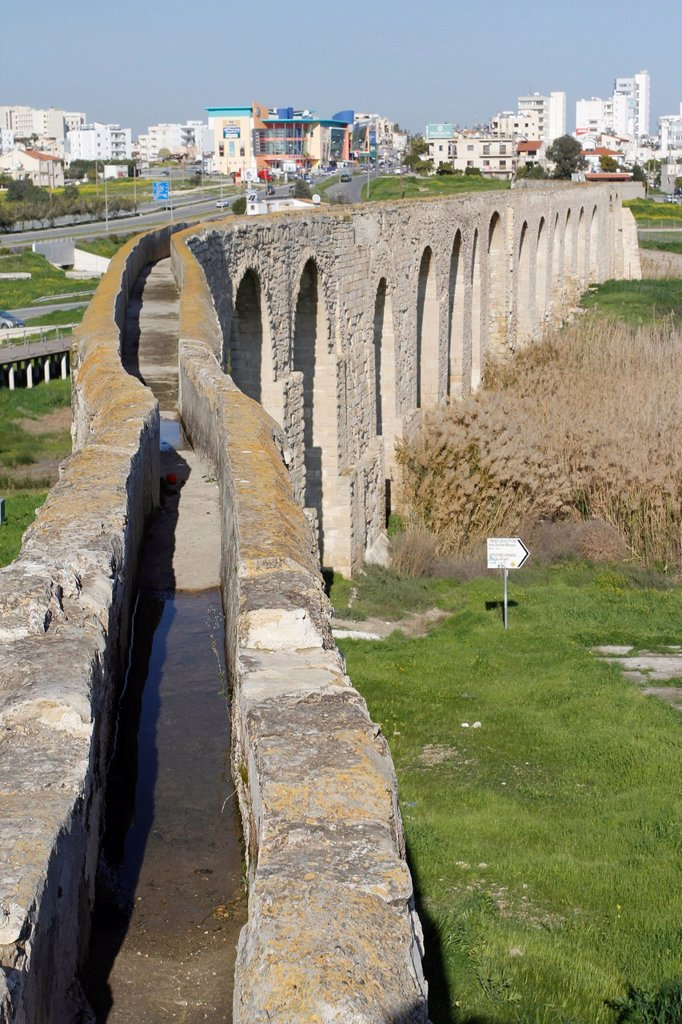 Stock Photo: 1848-723022 Historic Aqueduct of Kamares near Larnaca, Southern Cyprus, Cyprus, Greece, Europe