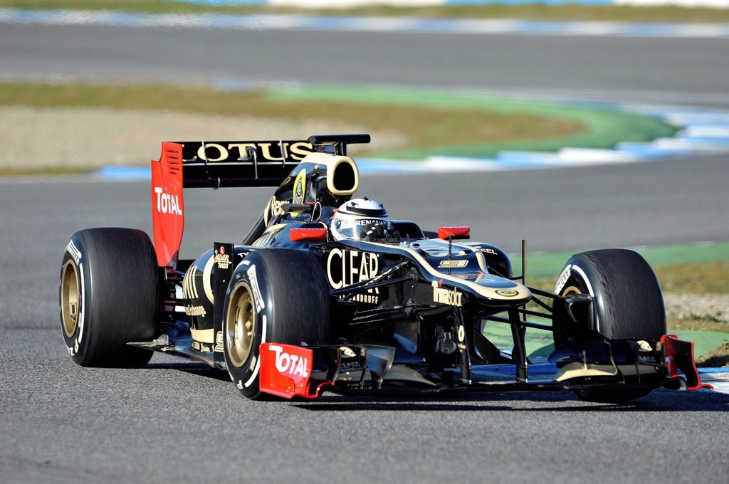 Kimi Raeikkoenen, FIN, Lotus F1 Team during the first Formula One testing sessions for the 2012 season in Jerez, Spain, Europe : Stock Photo