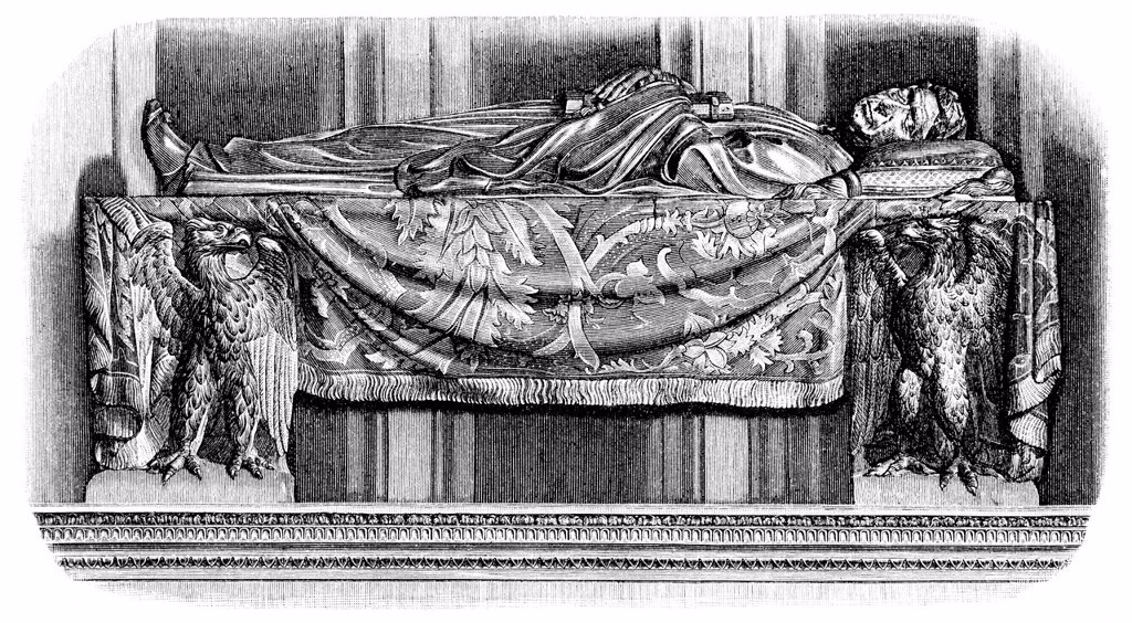 Stock Photo: 1848-724055 Historical illustration from the 19th Century, the tomb in the Church of Santa Croce of Leonardo Bruni, 1369 _ 1444, an Italian humanist and chancellor, Florence, Italy
