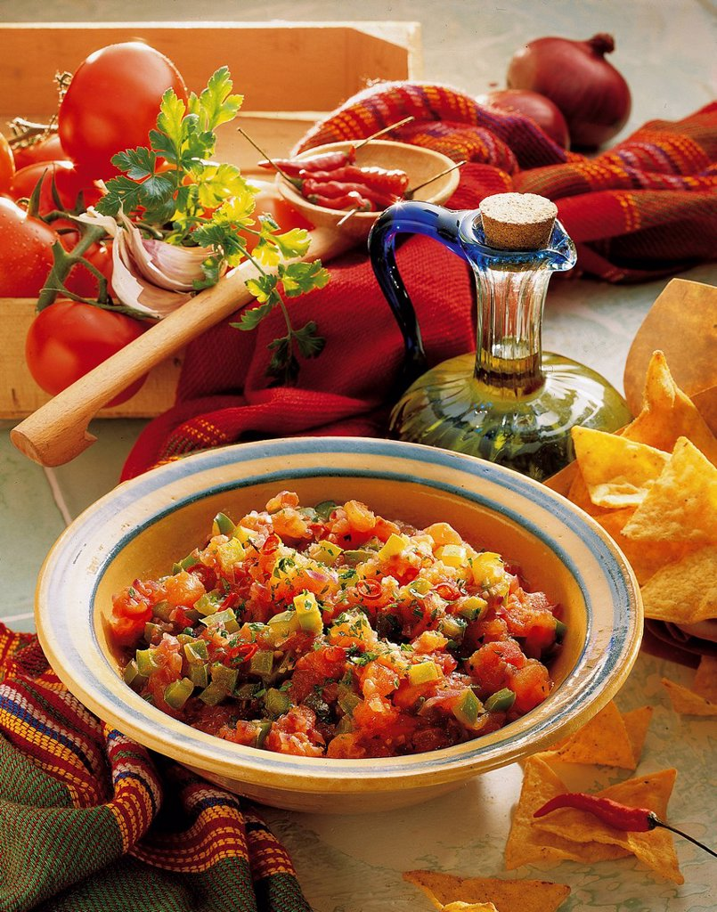 Stock Photo: 1848-724491 Maya_style chili sauce, Mexico, recipe available for a fee