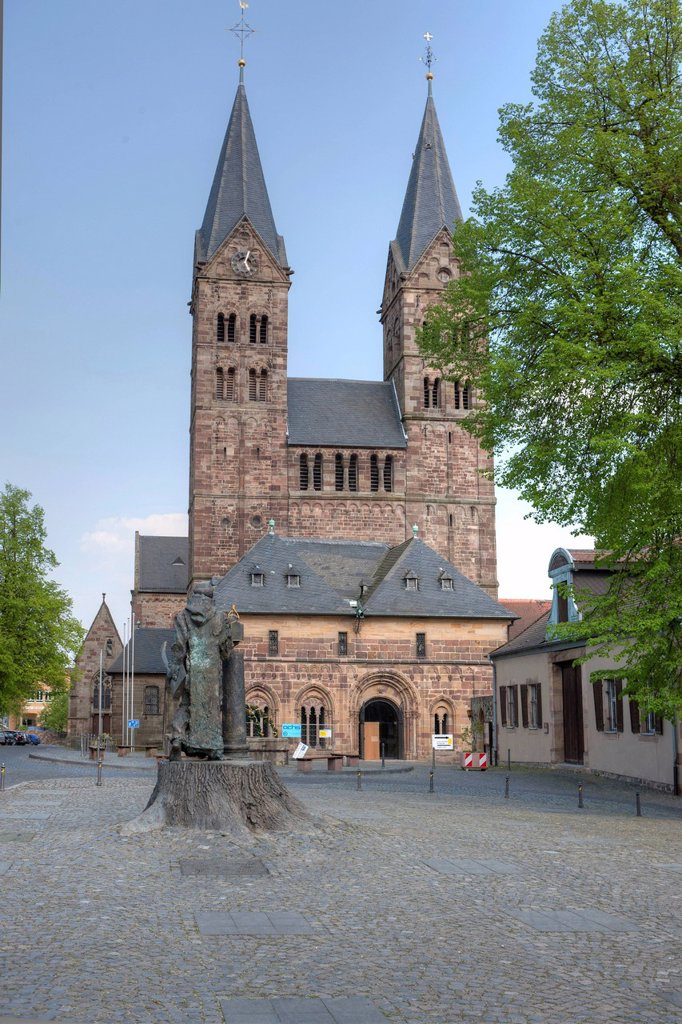 Cathedral of St. Peter, Fritzlar, Kassel region, Hesse, Germany, Europe, PublicGround : Stock Photo