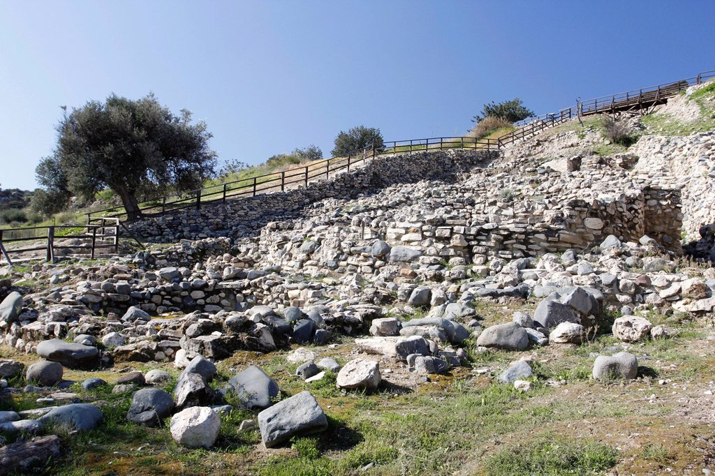 Stock Photo: 1848-726102 Choirokoitia, archaeological excavations, Cyprus, Greece, Europe