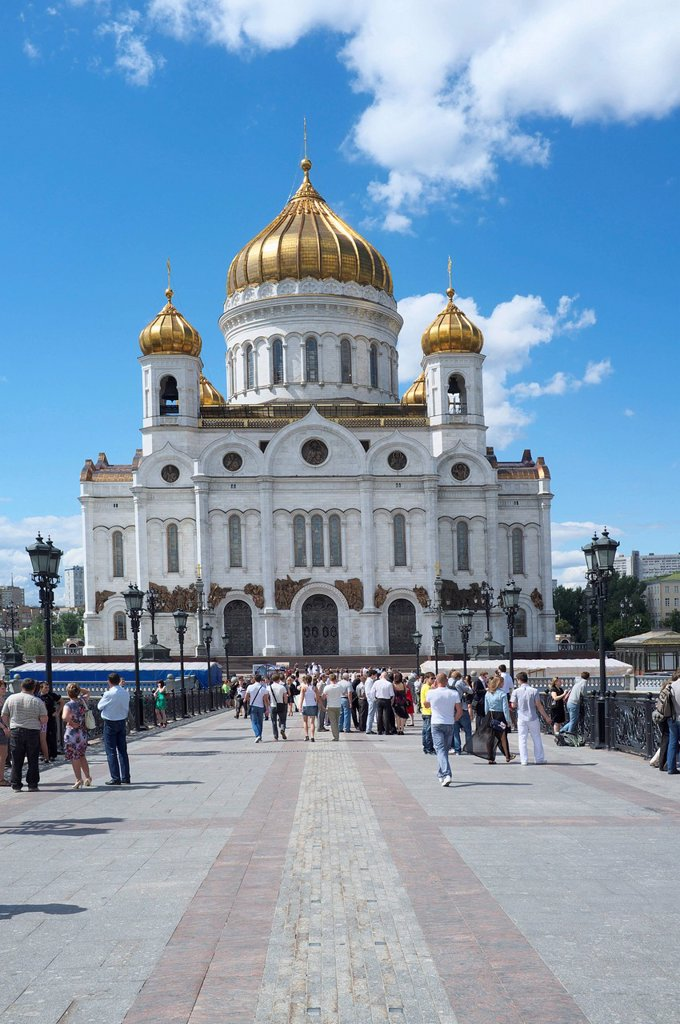 Cathedral of Christ the Saviour, Moscow, Russia, Eurasia : Stock Photo