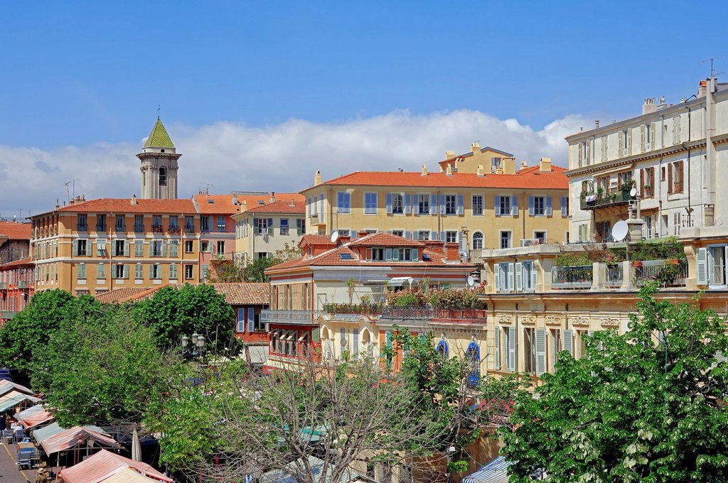 Stock Photo: 1848-726500 Cityscape, Nice, Alpes_Maritimes department, Provence_Alpes_Cote d´Azur region, Southern France, France, Europe, PublicGround