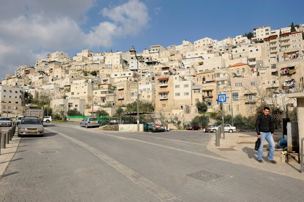 Palestinian suburb of Silwan in East Jerusalem, Jerusalem, Israel, Asia, Middle East : Stock Photo
