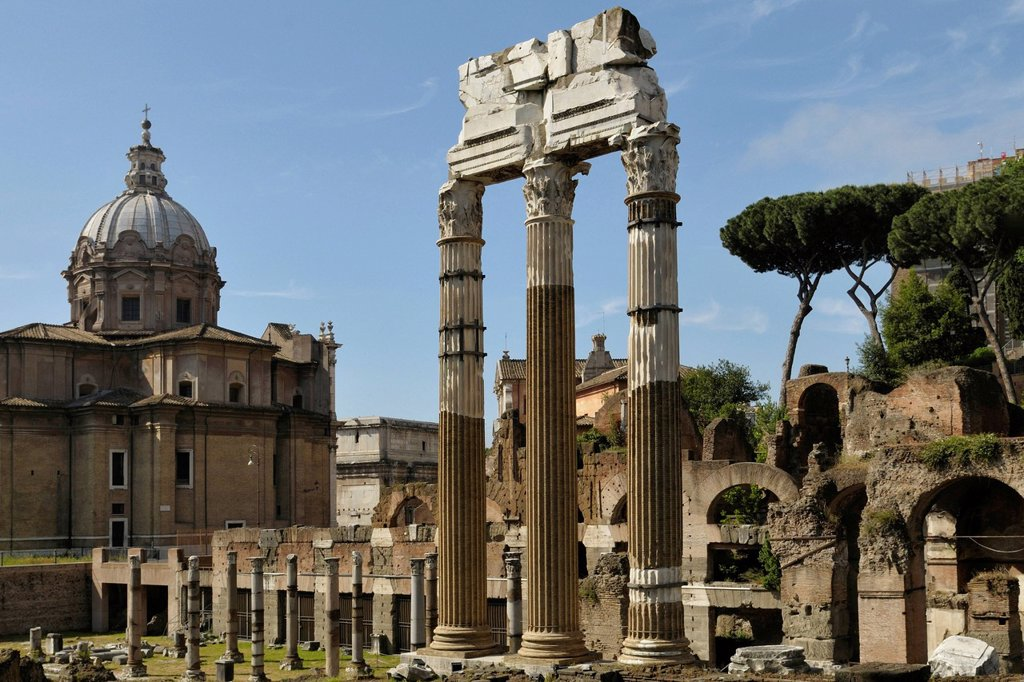 Stock Photo: 1848-726770 Roman Forum, Forum Romanum, Rome, Italy, Europe
