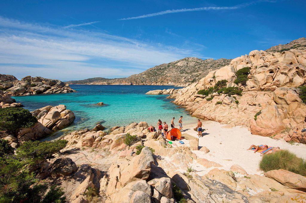 Stock Photo: 1848-727332 Cala Coticcio, Isola Caprera, La Maddalena Archipelago, Sardinia, Italy, Europe