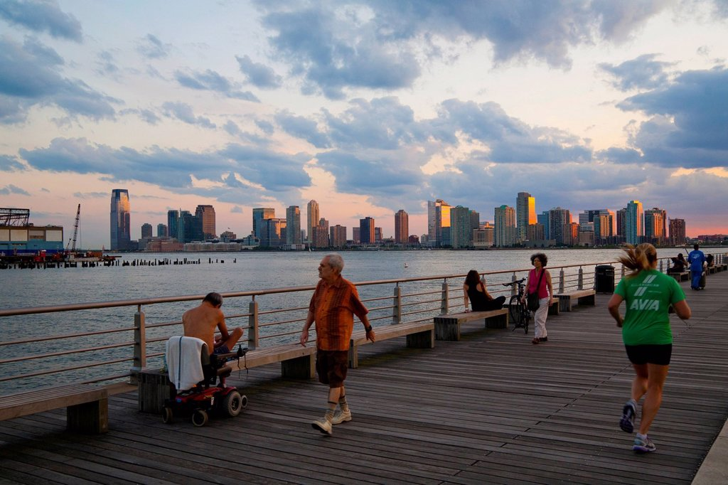 Pier 45, Hudson River Park, Greenwich Village, Lower West Side, Manhattan, New York City, USA : Stock Photo