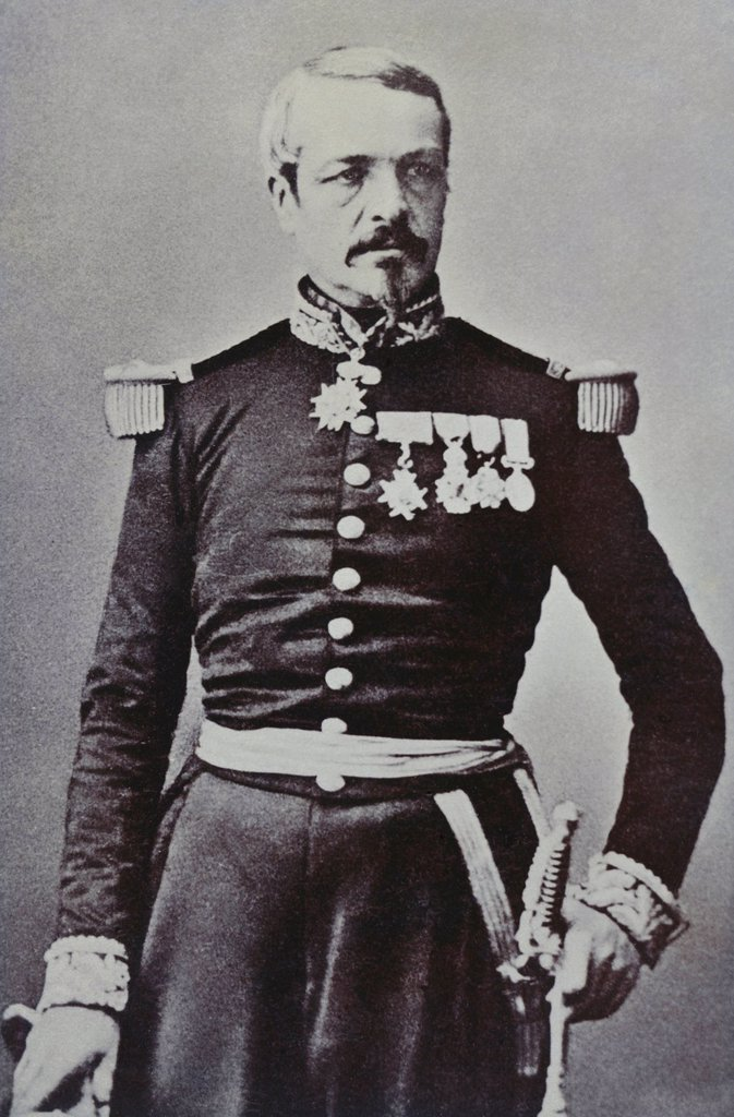 Stock Photo: 1848-728166 Historical photography, portrait of Charles Auguste Frossard, 1807_1875, French General in the Franco_Prussian War or Franco_German War, 1870_71