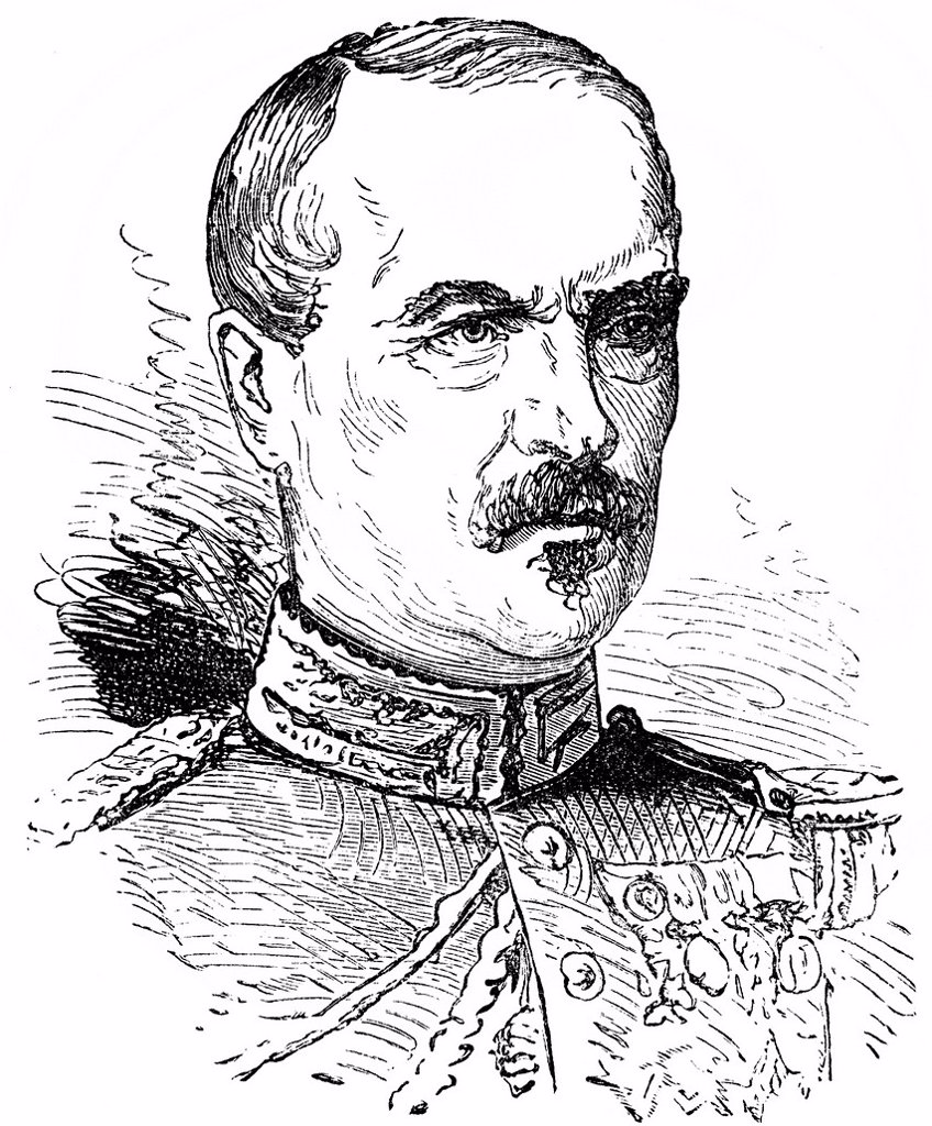 Stock Photo: 1848-728167 Historical drawing, portrait of Charles Auguste Frossard, 1807_1875, French General in the Franco_Prussian War or Franco_German War, 1870_71