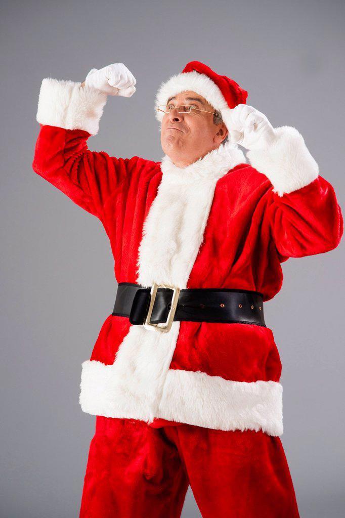 Cheering Santa Claus : Stock Photo