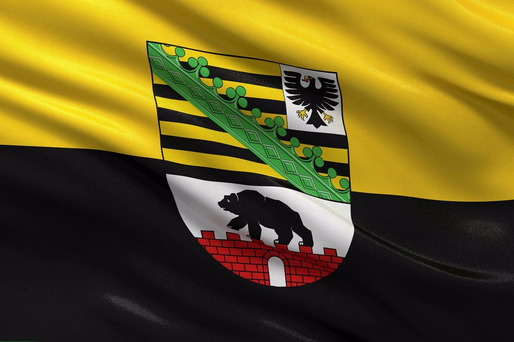 Stock Photo: 1848-728695 State flag of Saxony_Anhalt