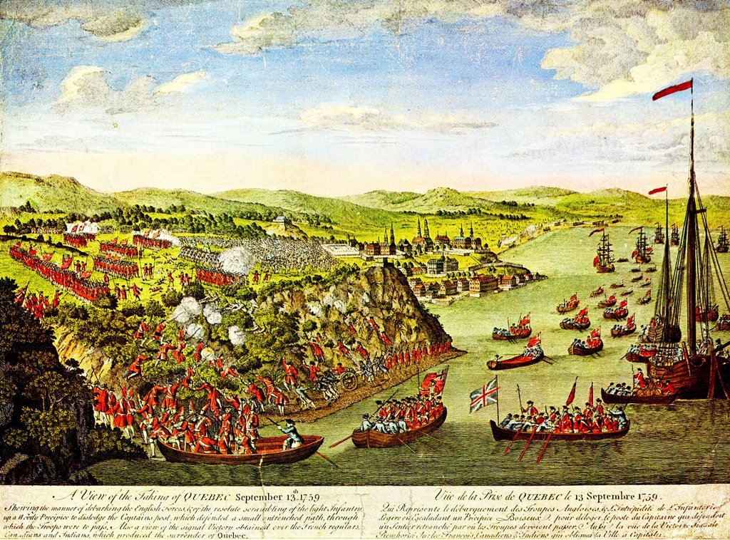 Stock Photo: 1848-728928 The Battle of the Plains of Abraham or the Battle of Quebec, Plaine d´Abraham, Heights of Abraham, outside the town of Quebec, 13 September 1759, battle between the British and the French, the engraving of 1797 is based on a drawing by Hervey Smyth, field. The Battle of the Plains of Abraham or the Battle of Quebec, Plaine d´Abraham, Heights of Abraham, outside the town of Quebec, 13 September 1759, battle between the British and the French, the engraving of 1797 is based on a drawing by Hervey