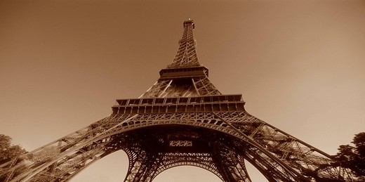 Stock Photo: 1848-7290 Eiffel Tower, Paris, France, Europe