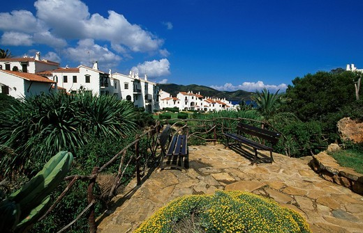 Stock Photo: 1848-72901 Holiday flats in Platges de Fornells, Minorca, Balearic Islands, Spain