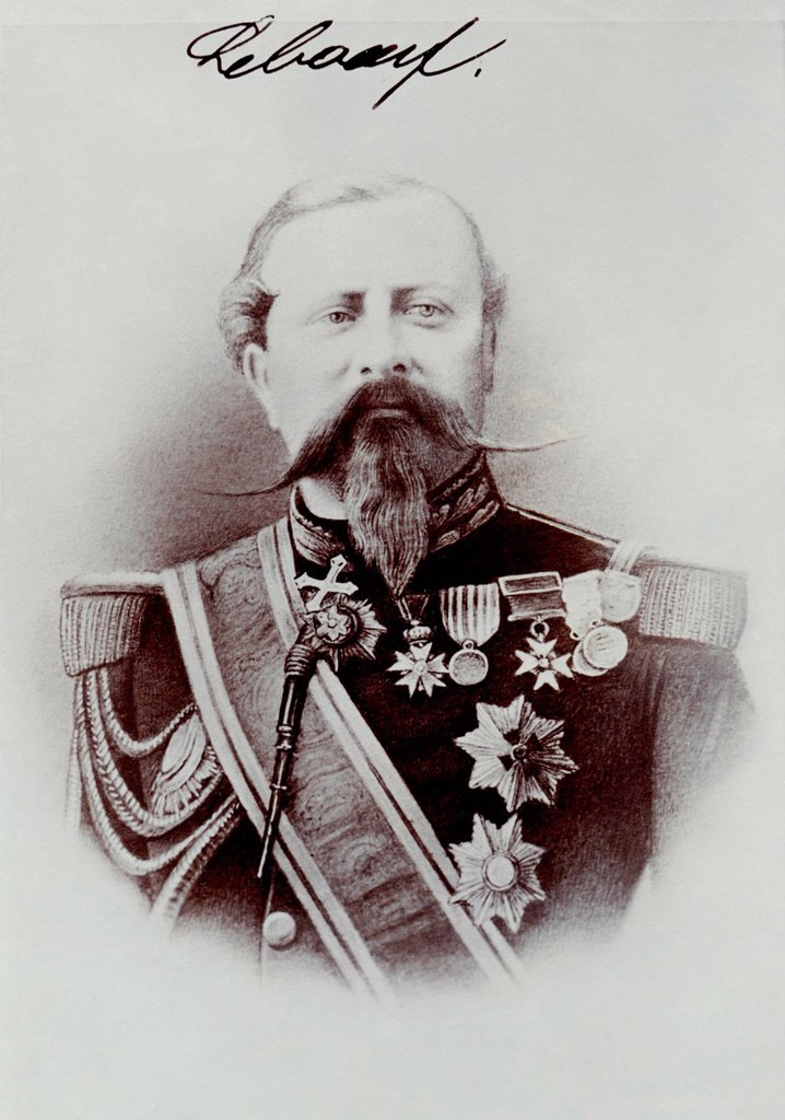 Historical photograph of Edmond Leboeuf, 1809_1888, marshal of France and Minister of War, Franco_Prussian War or Franco_German War 1870_1871, between the French Empire and the Kingdom of Prussia : Stock Photo
