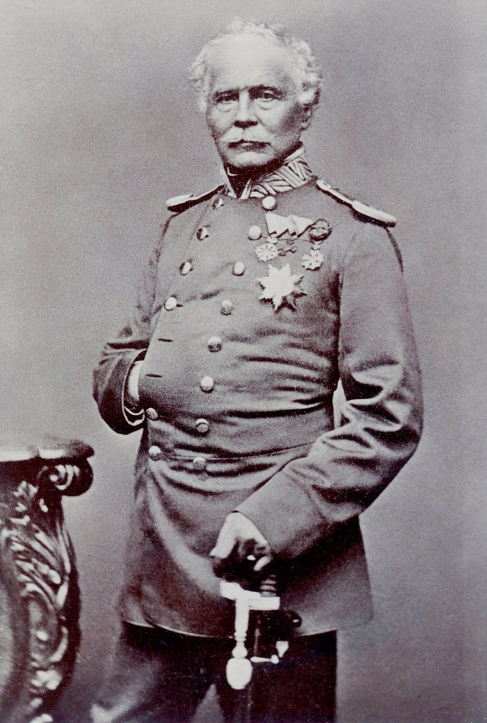 Stock Photo: 1848-729393 Historical photograph of Jakob Freiherr von Hartmann, 1795_1873, officer, General of Infantry of the Bavarian Army, Franco_Prussian War or Franco_German War 1870_1871, between the French Empire and the Kingdom of Prussia