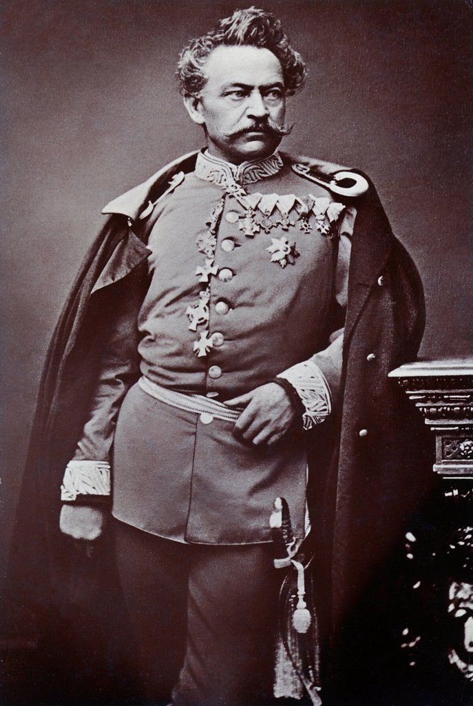 Historical photograph of Johann Baptist Ritter von Stephan, 1808_1875, General of the Royal Bavarian Army and commander of the 1st Royal Bavarian Infantry Division, Franco_Prussian War or Franco_German War 1870_1871, between the French Empire and the King. Historical photograph of Johann Baptist Ritter von Stephan, 1808_1875, General of the Royal Bavarian Army and commander of the 1st Royal Bavarian Infantry Division, Franco_Prussian War or Franco_German War 1870_1871, between the French Empire  : Stock Photo
