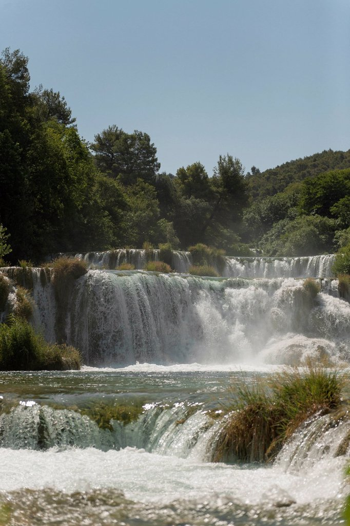 Stock Photo: 1848-730326 Waterfall, Krka National Park, Croatia, Southern Europe, Europe