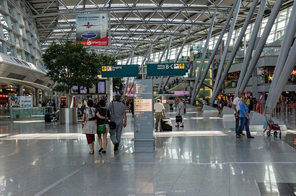 Stock Photo: 1848-732026 Interior of terminal building, Duesseldorf International Airport, North Rhine_Westphalia, Germany, Europe