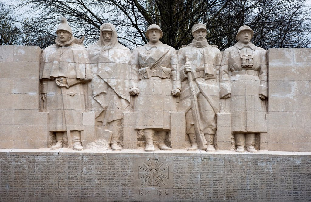 Stock Photo: 1848-732166 Memorial to the fallen of the First World War, Verdun, France, Europe
