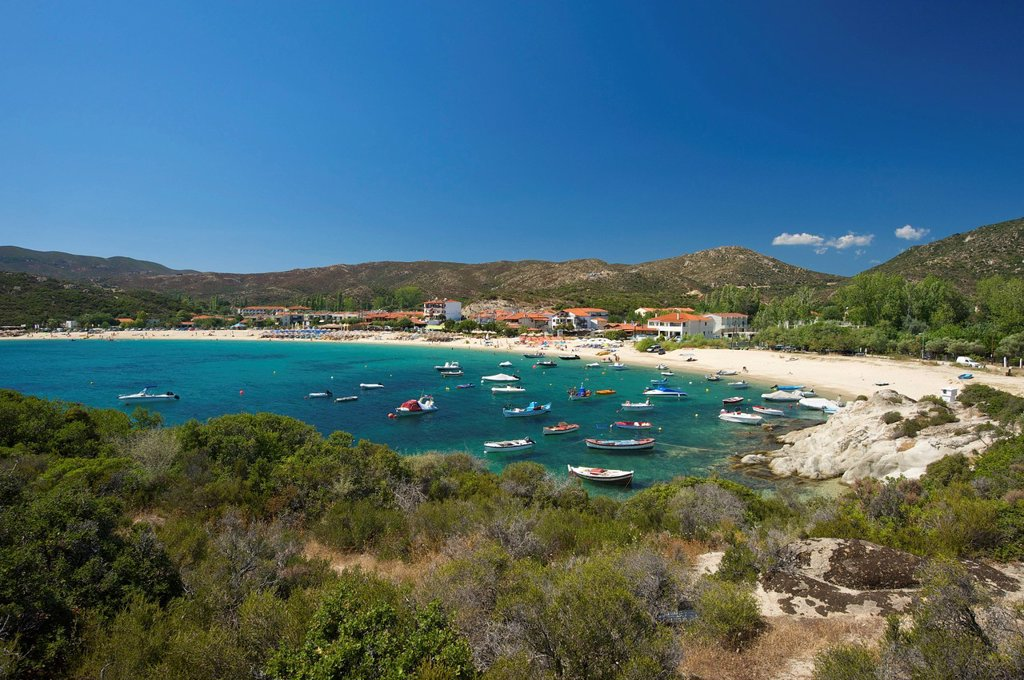 Kalamitsi beach, Sithonia, Chalkidiki or Halkidiki, Greece, Europe : Stock Photo