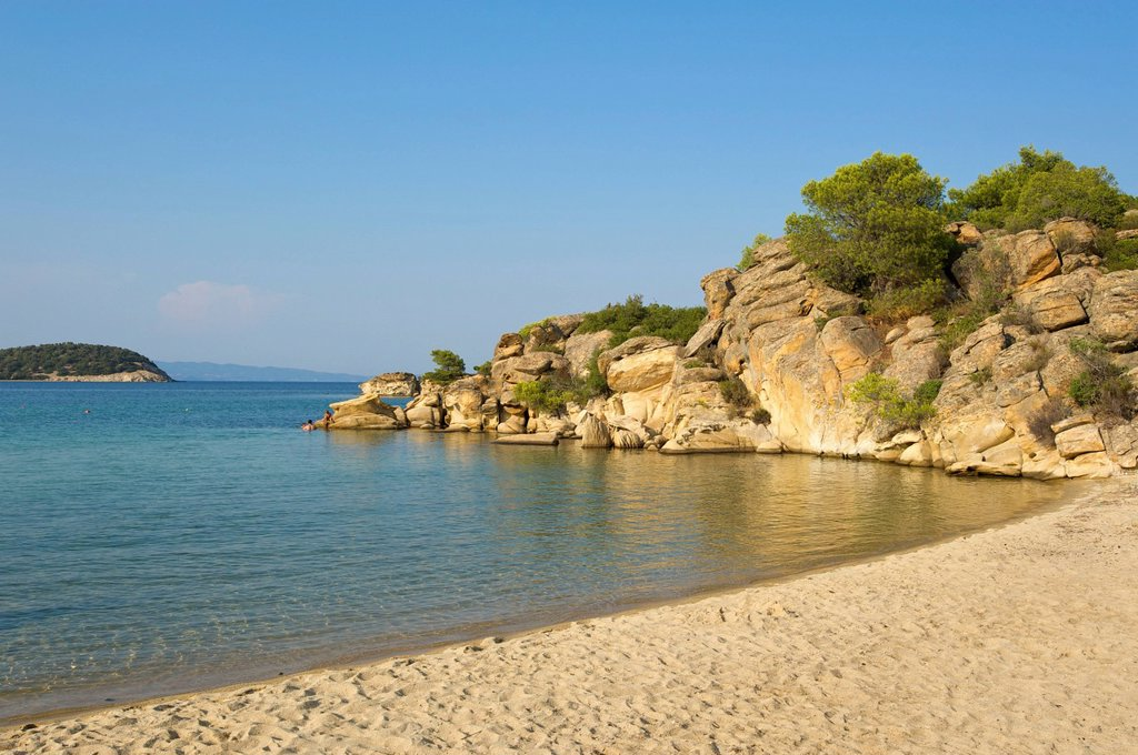 Stock Photo: 1848-732498 Talgo beach, Sithonia, Chalkidiki or Halkidiki, Greece, Europe