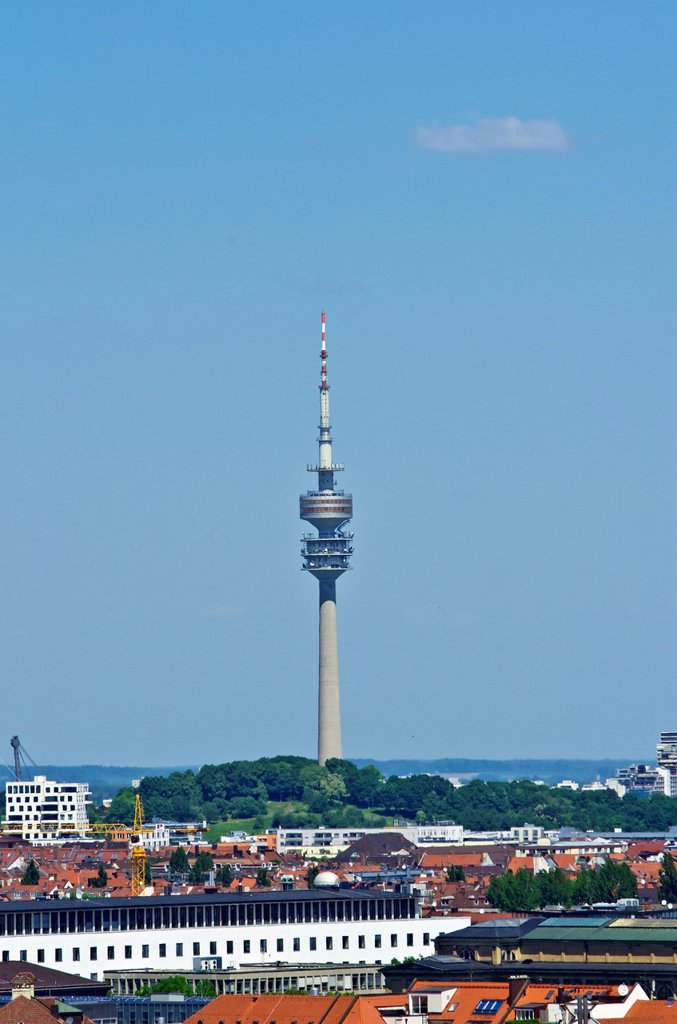 Stock Photo: 1848-733513 View from St. Peter´s Church, Alter Peter, to the television tower, Munich, Upper Bavaria, Bavaria, Germany, Europe