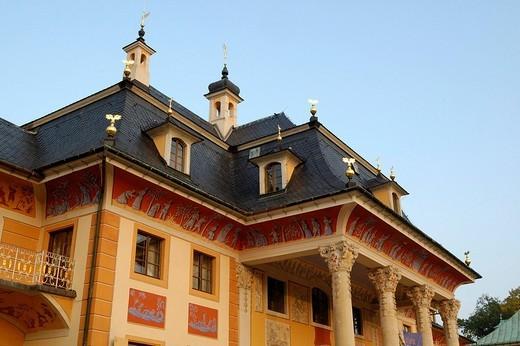 Stock Photo: 1848-73410 Palais Bergpalais of castle Pillnitz near Dresden Saxony Germany