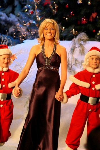 Singer Helene Fischer at Weihnachtsfest der Volksmusik Christmas Festival of Folk Music, Magdeburg, Saxony_Anhalt, Germany, Europe : Stock Photo