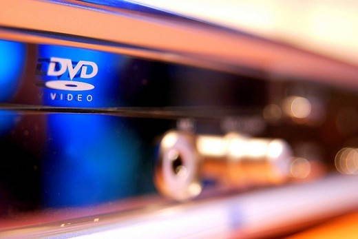 DVD Logo on the chassis : Stock Photo