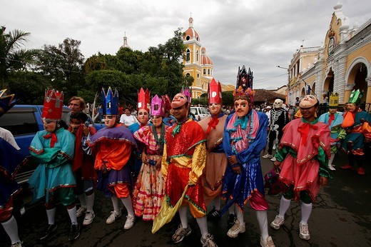 Street fair, carnival, live music and poetry festival in Granada, Nicaragua, Central America : Stock Photo