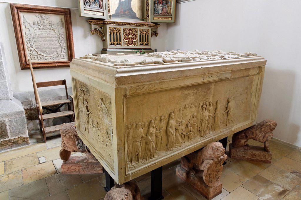 Stock Photo: 1848-743028 Tbl tomb of Wolfgang von Schauberg, Parish Church of Eferding or Eferdinger Cathedral, Eferding, Hausruckviertel region, Upper Austria, Austria, Europe