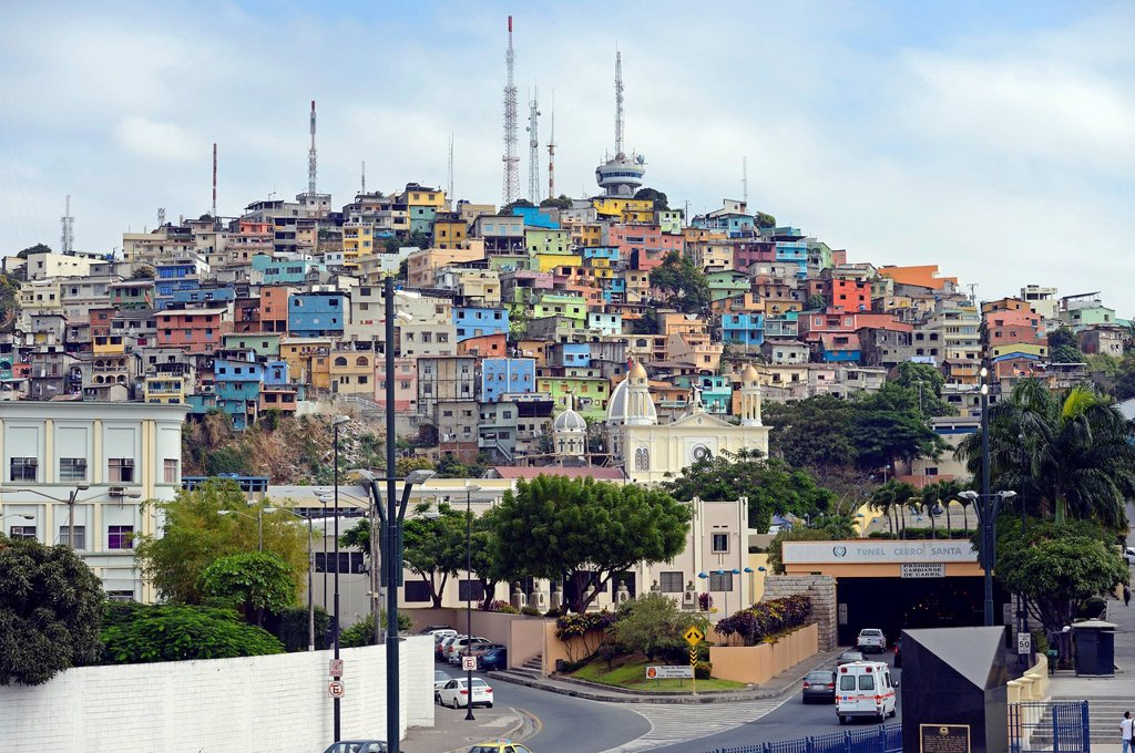 Colourful houses on Cerro del Carmen, Guayaquil, Ecuador, South America : Stock Photo