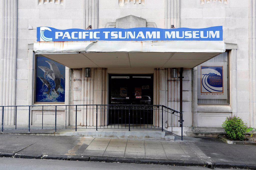 Stock Photo: 1848-743736 Pacific Tsunami Museum, Hilo, Big Island, Hawaii, USA