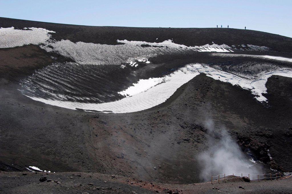 Stock Photo: 1848-744441 Mount Etna, volcano, smoke, Sicily, Italy, Europe