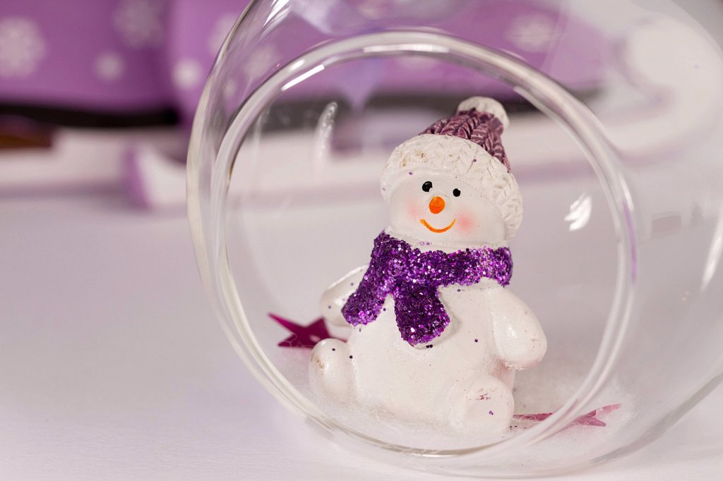 Christmas decoration with a snowman : Stock Photo