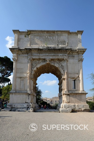 Stock Photo: 1848-745826 Arch of Titus, Rome, Italy, Europe