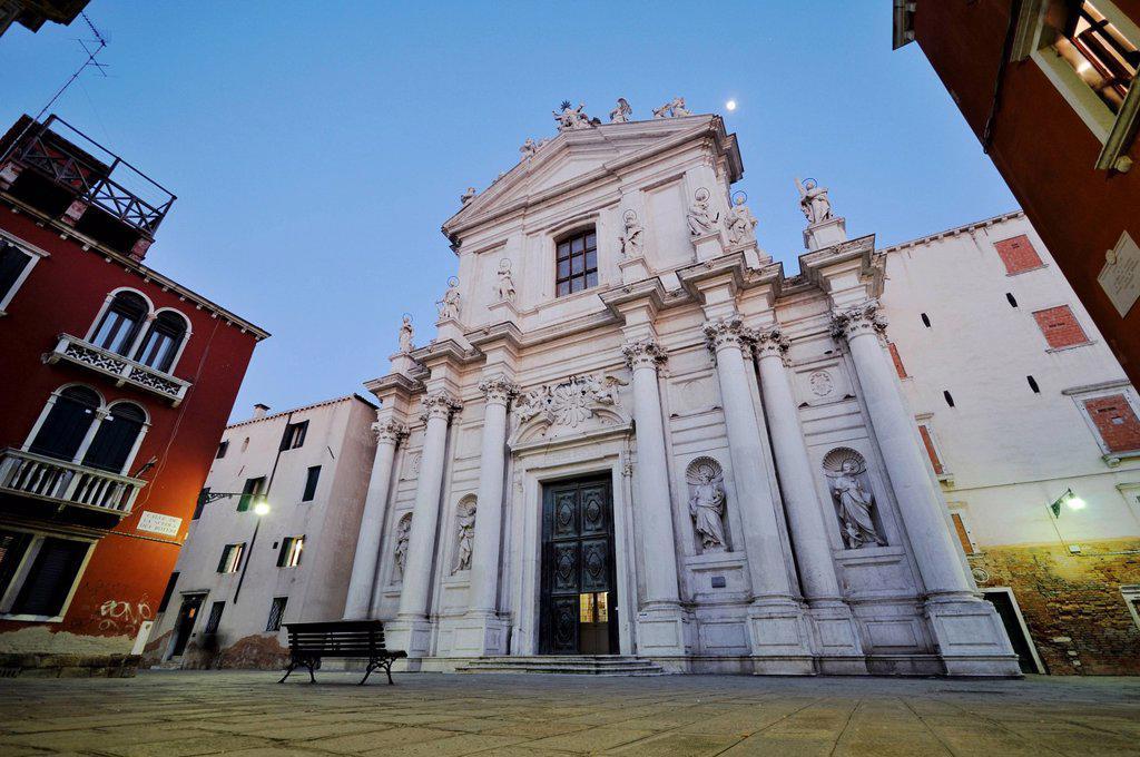 Church of Santa Maria Assunta detta I Gesuiti, Cannaregio, Venice, Venezia, Veneto, Italy, Europe : Stock Photo