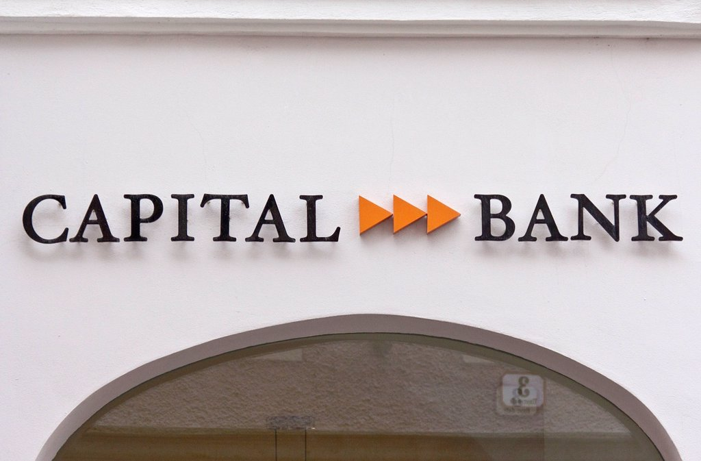 Capital Bank, Salzburg branch office, Salzburg, Austria, Europe : Stock Photo