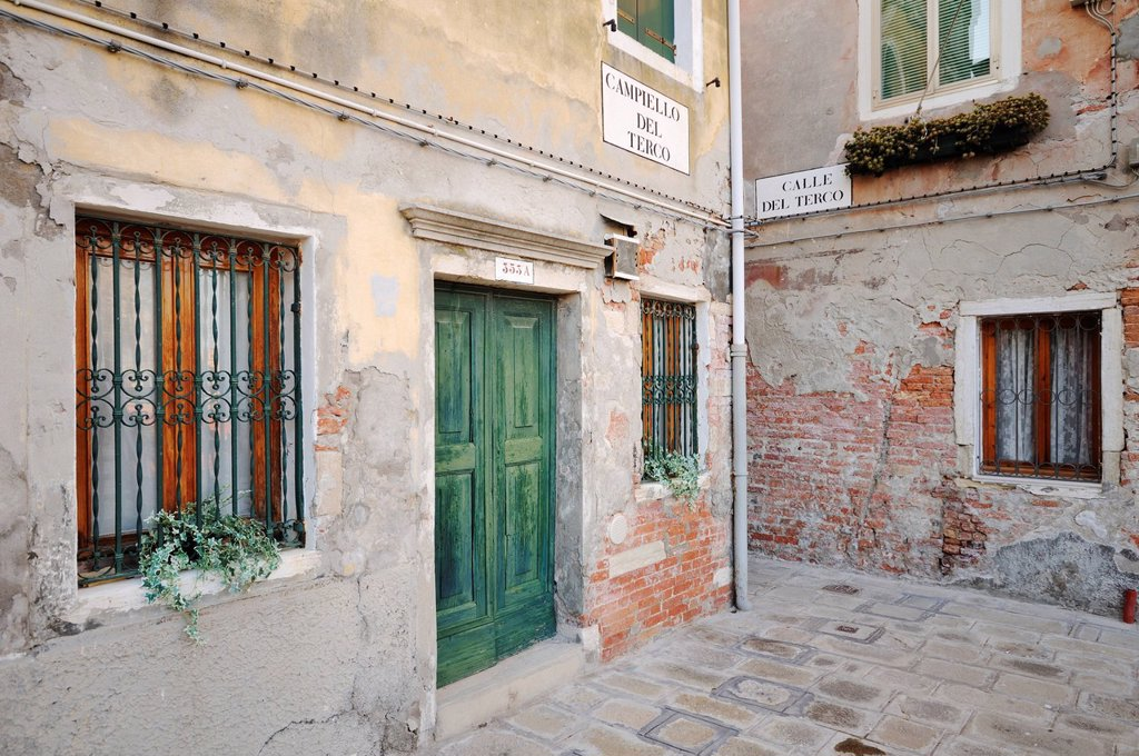 Stock Photo: 1848-746819 Houses at Campiello del Terco, Castello, Venice, Venezia, Veneto, Italy, Europe