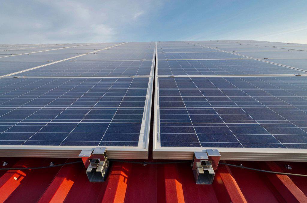 Stock Photo: 1848-747680 Photovoltaic power plant, Nentmannsdorf, Saxony, Germany, Europe