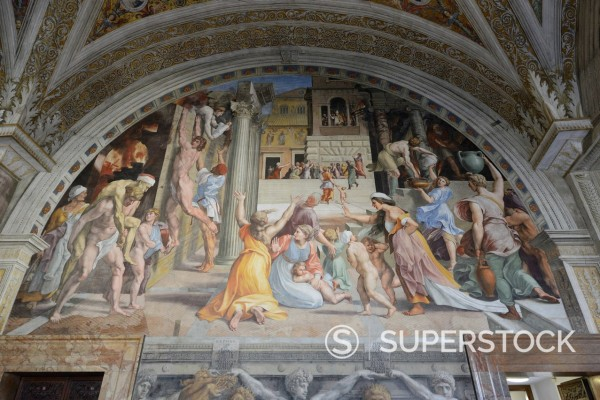 Stock Photo: 1848-747916 Frescoes and murals, Vatican Museums, Vatican City, Rome, Italy, Europe