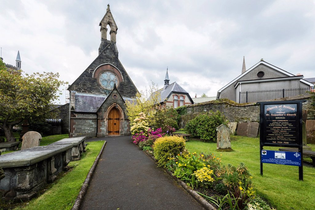 Stock Photo: 1848-749367 St. Augustine´s Church, Derry or Londonderry, County Londonderry, Northern Ireland, United Kingdom