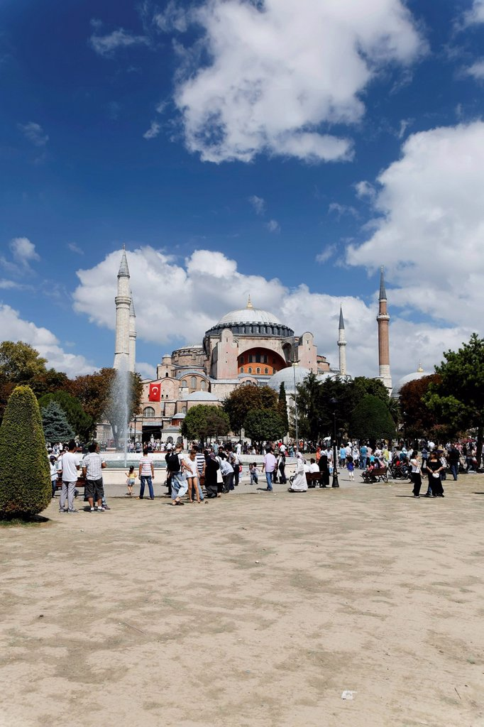 Hagia Sophia, Ayasofya, UNESCO World Heritage Site, Istanbul, Turkey, Europe : Stock Photo
