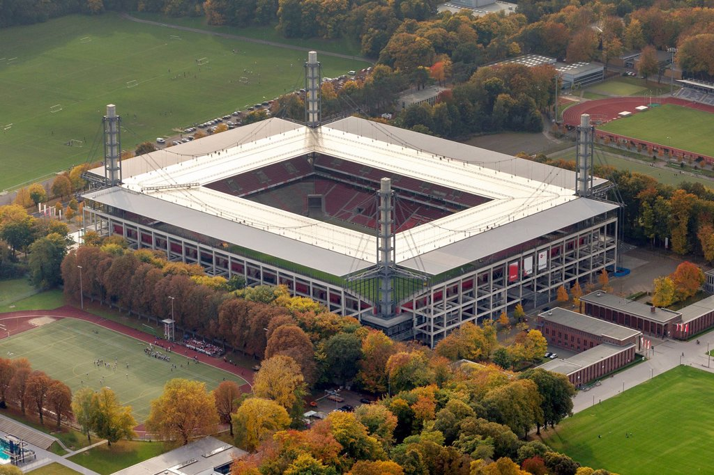 Stock Photo: 1848-750066 Aerial view, RheinEnergieStadion stadtium, Cologne, Rhineland, North Rhine_Westphalia, Germany, Europe