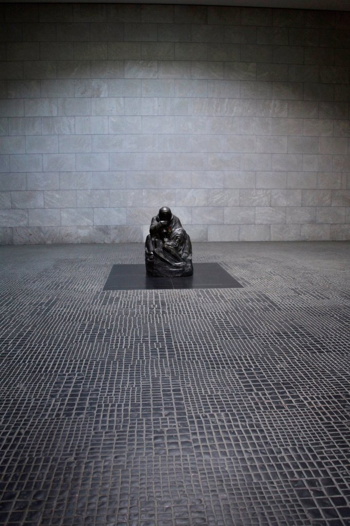 Stock Photo: 1848-750932 Kaethe Kollwitz sculpture in the New Guardhouse, Berlin, Germany, Europe